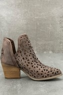 Musse & Cloud Athena Dark Brown Leather Cutout Booties 4