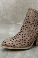 Musse & Cloud Athena Dark Brown Leather Cutout Booties 6