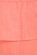 Hello Sunshine Coral Orange Off-the-Shoulder Dress 6