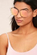 Light Years Gold and Pink Mirrored Sunglasses 1