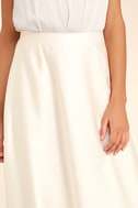 Picture Perfect Cream Satin Maxi Skirt 5
