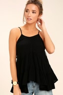 Breathe Easily Black Lace-Up Top 1