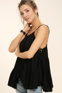 Breathe Easily Black Lace-Up Top 3