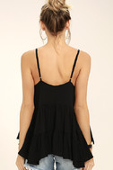 Breathe Easily Black Lace-Up Top 4