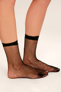 Mighty Fine Black Fishnet Socks 3