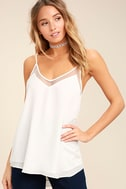 Sweet Fling White Mesh Tank Top 1