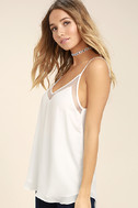 Sweet Fling White Mesh Tank Top 3