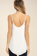 Sweet Fling White Mesh Tank Top 4