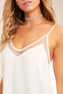 Sweet Fling White Mesh Tank Top 5