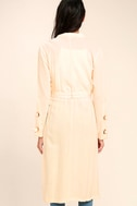 Invigorating Pale Peach Trench Coat 4