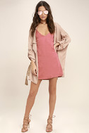 Top Pick Rose Pink Slip Dress 2