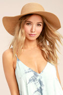 My Paradise Tan Floppy Straw Hat 2