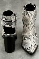 Keelin Snake Pointed Ankle Booties 3