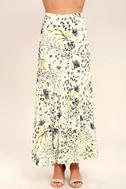 Heartfelt Cream Floral Print Maxi Skirt 2