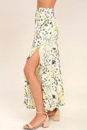 Heartfelt Cream Floral Print Maxi Skirt 3
