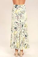 Heartfelt Cream Floral Print Maxi Skirt 4