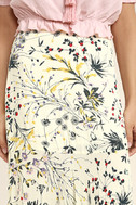 Heartfelt Cream Floral Print Maxi Skirt 5