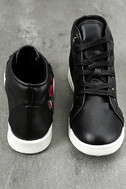 Cynara Black Embroidered High-Top Sneakers 3