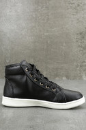 Cynara Black Embroidered High-Top Sneakers 4