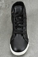 Cynara Black Embroidered High-Top Sneakers 5