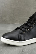 Cynara Black Embroidered High-Top Sneakers 6