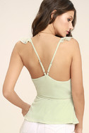 Totally In Love Mint Green Wrap Top 3