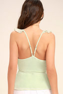 Totally In Love Mint Green Wrap Top 4