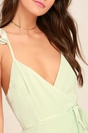 Totally In Love Mint Green Wrap Top 5