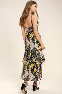 Incense and Peppermints Black Floral Print Maxi Dress 3