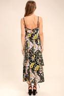 Incense and Peppermints Black Floral Print Maxi Dress 4