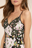 Incense and Peppermints Black Floral Print Maxi Dress 5