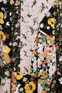 Incense and Peppermints Black Floral Print Maxi Dress 6