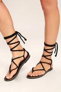 Madden Girl Juliie Black Lace-Up Sandals 1