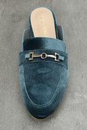 Nyssa Blue Velvet Loafer Slides 5