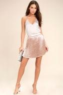 Swing Era Pink Satin Mini Skirt 2