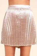 Swing Era Pink Satin Mini Skirt 4