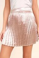 Swing Era Pink Satin Mini Skirt 5
