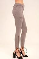 Self-Assured Washed Mauve Skinny Jeans 3