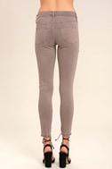 Self-Assured Washed Mauve Skinny Jeans 4