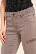 Self-Assured Washed Mauve Skinny Jeans 5
