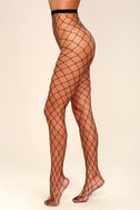 Catch Your Eye Black Fishnet Tights 2