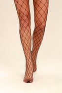 Catch Your Eye Black Fishnet Tights 3