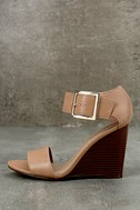 Neysa Natural Ankle Strap Wedges 2