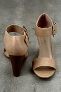 Neysa Natural Ankle Strap Wedges 3