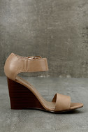 Neysa Natural Ankle Strap Wedges 4