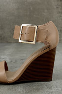 Neysa Natural Ankle Strap Wedges 7