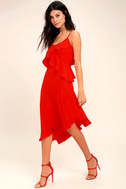 Adelyn Rae Desdemona Red Midi Dress 1