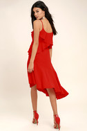 Adelyn Rae Desdemona Red Midi Dress 2
