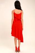 Adelyn Rae Desdemona Red Midi Dress 3