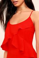 Adelyn Rae Desdemona Red Midi Dress 4